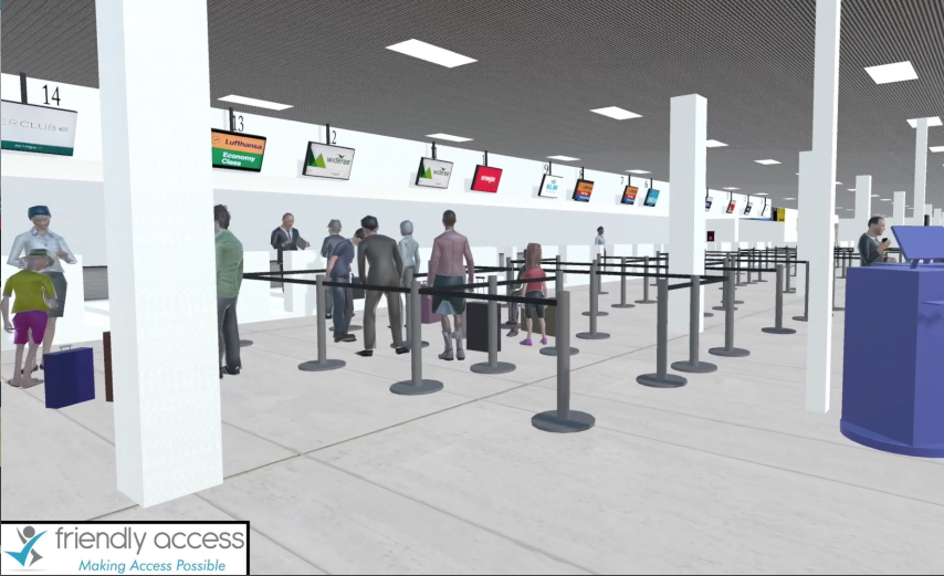 iSenseVR airport checkin